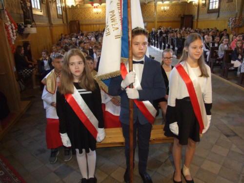 Święto Szkoły Podstawowej im. Jana Pawła II w Gołkowicach - urocz. Msza św. z ok. 22 rocznicy nadania imienia - 16.10.2019